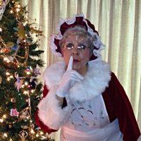 Mrs Claus Sharing Christmas Joy